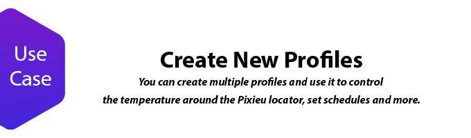 Pixieu create new profiles